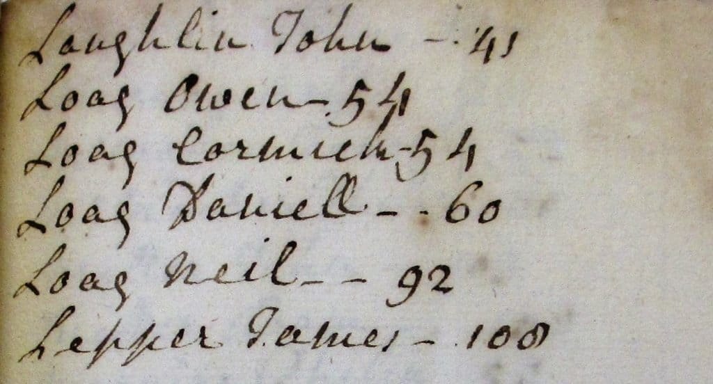 NLI Ms. 7885 Rental and accounts of the Hart family of Kilderry, Co. Donegal, 1757-1767 and 1796-1803.