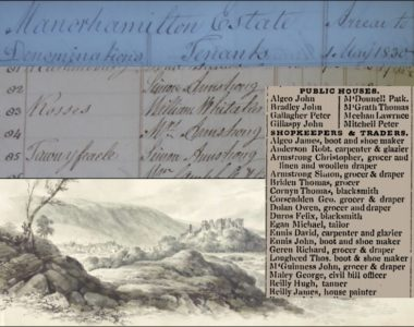 Tenants of Cloonclare and Killasnet Parishes in Leitrim 1829-36.